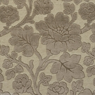 DESIGNER ROSES WONDERLAND CUT VELVET FABRIC BEIGE BROWN