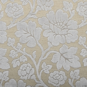 DESIGNER ROSES WONDERLAND CUT VELVET FABRIC BEIGE SPA
