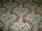 DESIGNER SHABBY ROSES FRENCH COUNTRY CHINTZ FABRIC 15 YARDS