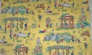 DESIGNER STORY BOOK WHIMSICAL GARDEN MONKEYS TOILE FABRIC 2 YARD REMNANT
