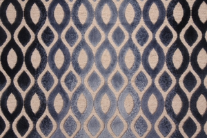 DESIGNER SYNERGY CUT VELVET FABRIC BLUESTONE