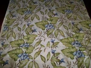 DESIGNER TROPICAL BLUE IRIS PRINTED DUPIONI SILK FABRIC 10.5 YARDS