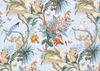DESIGNER TROPICAL COCKATOO BLUE JAY BIRDS CALLA LILY TOILE FABRIC MULTI
