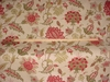G P & J Baker BAKER'S INDIENNE JACOBEAN FABRIC RED GREEN