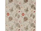 G P & J BAKER CALTHORPE RED GREEN SIENNA FABRIC