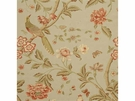 G P & J Baker ELINOR'S CHINES BIRD LINEN FABRIC AQUA