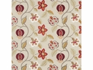G P & J BAKER ELVASTON RED IVORY FABRIC