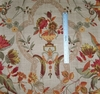 G P & J BAKER FRENCH COUNTRY FLORAL MEDALLIONS LINEN FABRIC BEIGE