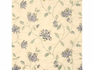 G P & J Baker HONEYSUCKLE EMBROIDERY SILK FABRIC LAVENDER