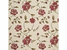 G P & J Baker LONGFORD EMBROIDERY LINEN FABRIC RED BRONZE