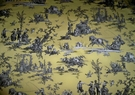 G P & J BAKER JOFA THE SEASONS TOILE FABRIC YELLOW CHARCOAL