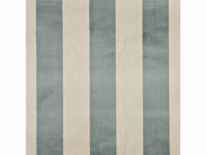 GP & J BAKER ASTLEY STRIPE VELVET FABRIC AQUA NATURAL