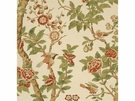 GP & J BAKER CHINESE ELDON LINEN FABRIC CORAL