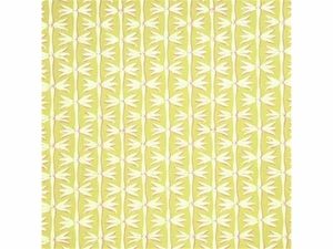 GP & J BAKER FIREFLY LINEN FABRIC LIME CHALK