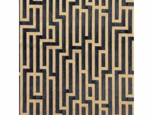 GP & J BAKER FRETWORK GEOMETRIC VELVET FABRIC ANTHRACITE