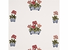 GP & J BAKER LIFESTYLES AURICULAS EMBROIDERED FABRIC PINK