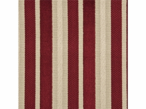 GP & J BAKER MARWOOD STRIPE VELVET FABRIC CRANBERRY