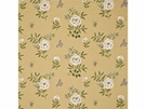 GP & J BAKER MEREWORTH EMBROIDERED LINEN FABRIC MIMOSA