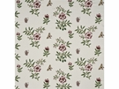 GP & J BAKER MEREWORTH EMBROIDERED LINEN FABRIC RED GREEN