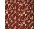 GP & J BAKER OLEANDER SILK FABRIC RED GOLD