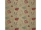 GP & J BAKER TULIP TREE SILK FABRIC RED GOLD