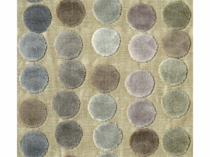 GROUNDWORKS AVERY DOTS VELVET FABRIC MAUVE