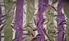KOPLAVITCH BEAUVILLE SILK SATIN TAFFETA STRIPES FABRIC PURPLE GREEN BEIGE 50 YARD BOLT