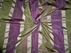 KOPLAVITCH BEAUVILLE SILK SATIN TAFFETA STRIPES FABRIC  PURPLE GREEN BEIGE