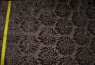 KOPLAVITCH CUT VELVET CHINESE MUMS FABRIC DARK BROWN