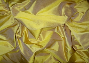 KOPLAVITCH SUNFLOWER GOLD PREMIUM SILK DUPIONI FABRIC GOLD/BRONZE