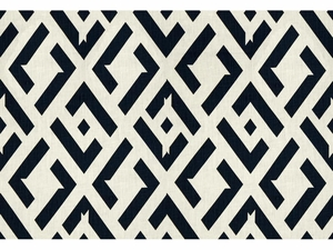 KRAVET CHINA CLUB LINEN FABRIC NERO