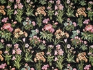 KRAVET COTURE CAPRISCA FLORAL TAPESTRY FABRIC 10 YARDS NERO