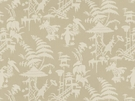 KRAVET COUTURE / BARBARA BARRY  INDO NIGHT LINEN FABRIC PARCHMENT