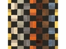 KRAVET COUTURE CHECKERS VELVET FABRIC BLACK YELLOW