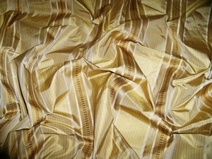 KRAVET COUTURE COLLINS SATIN STRIPES SILK FABRIC