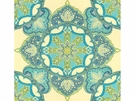 KRAVET COUTURE DRAMA QUEEN JACQUARD FABRIC BLUE LIME