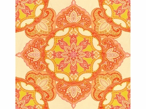 KRAVET COUTURE DRAMA QUEEN JACQUARD FABRIC HOT CRUSH