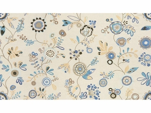 KRAVET COUTURE FUN IN THE SUN EMBROIDERED FABRIC BLUE SKY