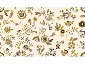 KRAVET COUTURE FUN IN THE SUN EMBROIDERED FABRIC POP OF COLOR