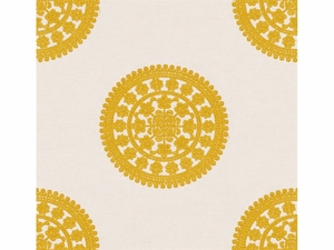 KRAVET COUTURE HITS THE SPOT EMBROIDERY LINEN FABRIC LEMONADE