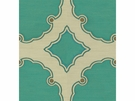 KRAVET COUTURE INTERPRETATION DAMASK SILK FABRIC TURQUOISE