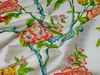 KRAVET COUTURE JOFA CHINOISERIE CHINESE PEONY BLOSSOMS PRINTED RAW SILK 7 YARDS