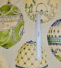KRAVET COUTURE LEE JOFA FABERGE EGGS LINEN FABRIC BLUE GREEN MULTI