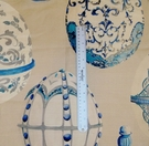 KRAVET COUTURE LEE JOFA FABERGE EGGS LINEN FABRIC BLUE MULTI