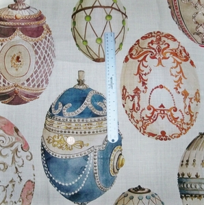 KRAVET COUTURE LEE JOFA FABERGE EGGS LINEN FABRIC MULTI