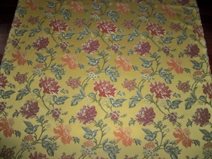 KRAVET COUTURE LEE JOFA FINO BROCADE FABRIC 9 3/4 YARDS GOLDENROD