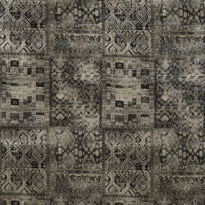 KRAVET COUTURE LEE JOFA ORNATE VELVET FABRIC BLACK MULTI