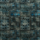 KRAVET COUTURE LEE JOFA ORNATE VELVET FABRIC BLUE MULTI