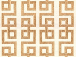 KRAVET COUTURE MODERN APPLIQUE EMBROIDERY GEOMETRIC LATTICE SCROLLWORK LINEN FABRIC SHELL