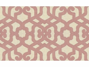 KRAVET COUTURE MODERN ELEGANCE EMBROIDERY LINEN FABRIC ORCHID